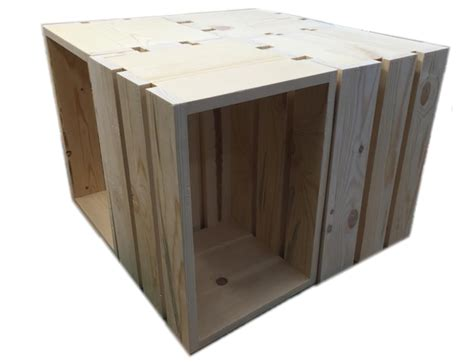 4 Crate Coffee Table Wood Crate Coffee Tables Rustic Design