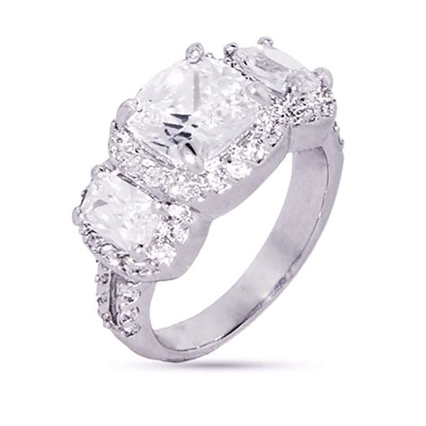 cushion cut past present future cz ring ebay