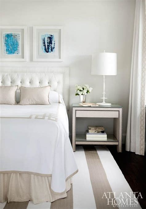 White Beige white and beige bedroom with key bedding