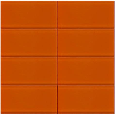 bright orange glass subway tile in poppy modwalls lush