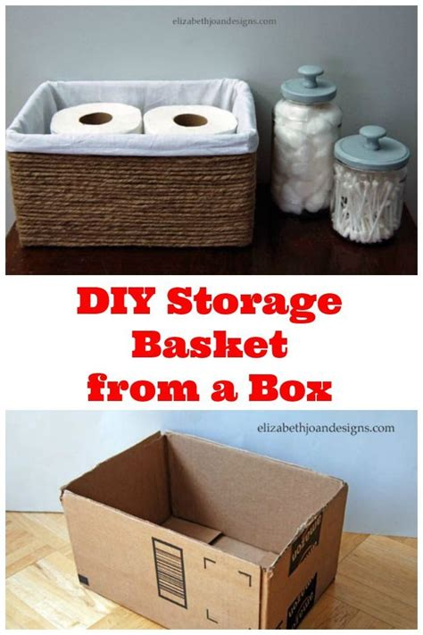 Bathroom Storage Box Diy Storage Basket From A Box This Is A Great Way To Get Organized On A Budget Organizing