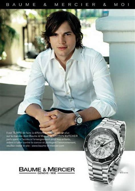 Teri Hatcher And Ashton Kutcher For Baume Mercier teri hatcher and ashton kutcher promoting baume et mercier