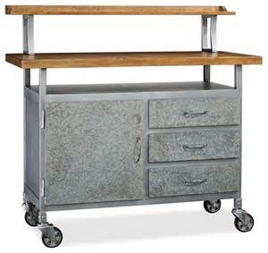 Kitchen Cart Table Barkley Console Table Industrial Kitchen Islands And Kitchen Carts Sacramento By Pottery