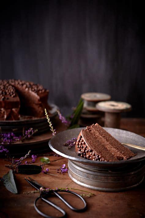 chocolate truffle cake  chestnut cream  ganache