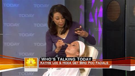 kathie lee gifford hair extensions bird poop facials on the today show shizuka new york day spa