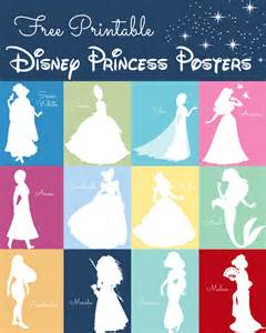 free disney princess silhouette prints