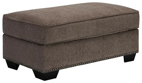 ottoman with nailhead trim benchcraft emelen 4560014 ottoman with nailhead trim