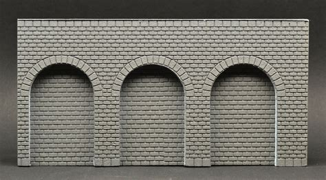 stone veneer wall section wall section with arcades smooth regular cut stone