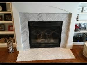 Granite Fireplace Surrounds - fireplace surround makeover 1 x 6 ascend chevron honed tiles youtube