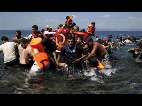 refugee boat video refugee boat sinking dozens including children drown off