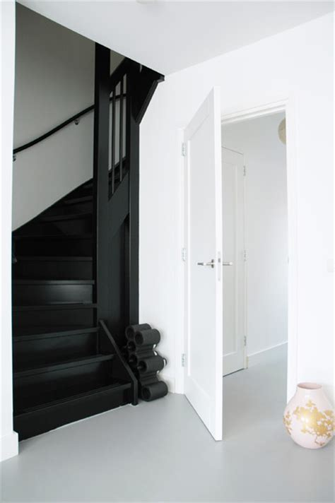 black staircase black stairs modern staircase amsterdam by april
