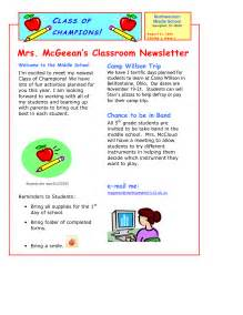 free newsletter templates for teachers free school newsletter templates for teachers