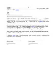 vehicle sale agreement template car sales contract and agreement template exles vlcpeque