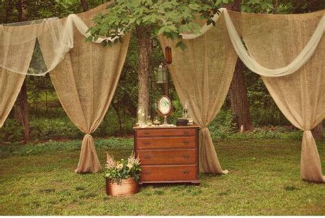 Burlap Table Skirt Decora Tu Boda Con Arpillera Mi Boda Diy