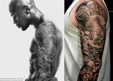floyd mayweather tattoo accuses boxer floyd mayweather of photoshopping his