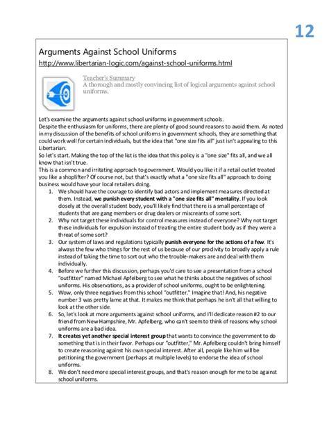 School Uniforms Argumentative Essay by Argumentative Essays On School Uniforms