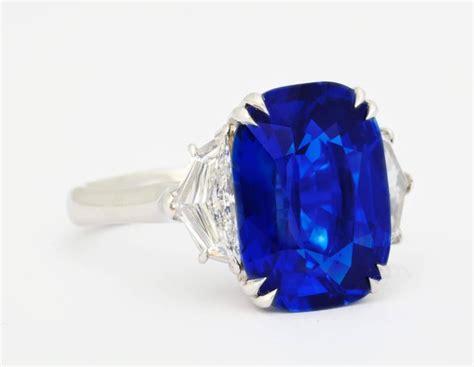 Blue Sapphire Birma unheated burma royal blue sapphire platinum ring for sale at 1stdibs