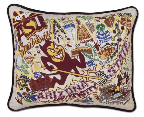 catstudio embroidered arizona state pillow