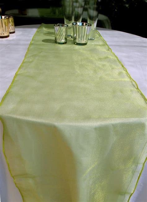 organza table runner light lime ebay