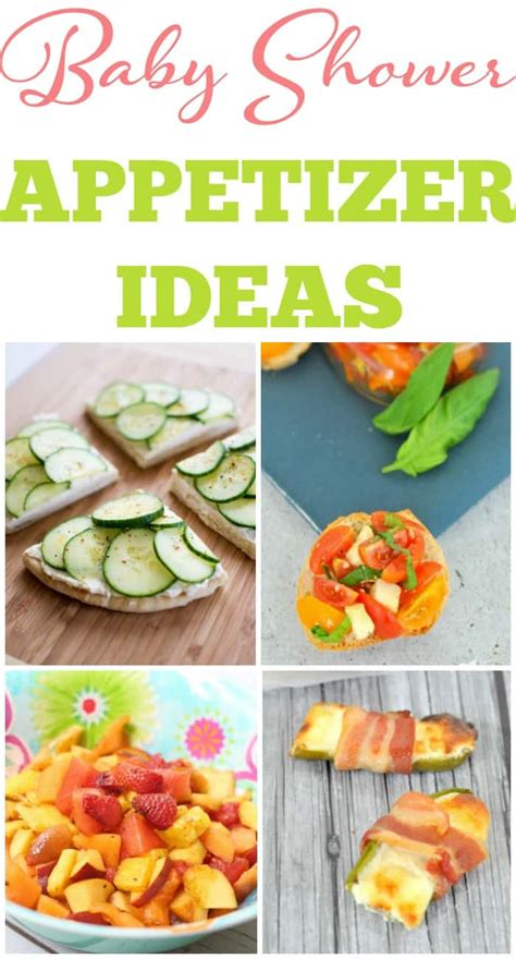 Creative Baby Shower Appetizers by Baby Shower Appetizers Baby Shower Ideas