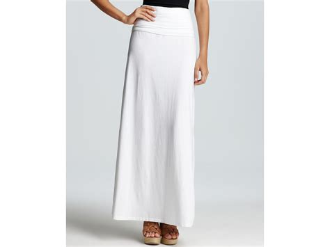 splendid foldover maxi skirt in white 900 lyst