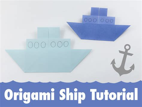 Ship Origami - traditional origami ship tutorial
