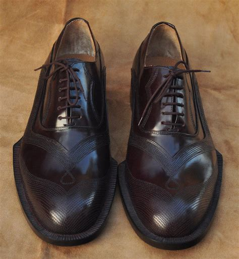 Handmade Dress Shoes - handmade mens oxferd brown shine color leather sole
