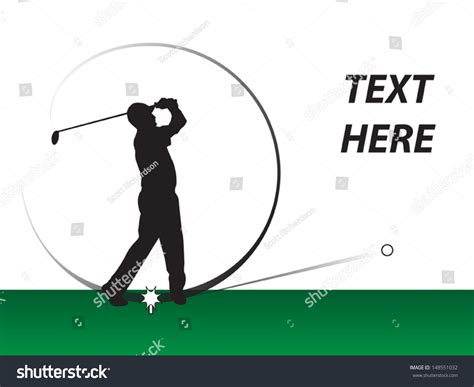 swing golf italiano golf swing stock vector illustration 148551032