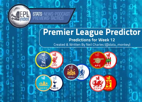 epl week 12 epl prediction model week 12 forecasts arsenal