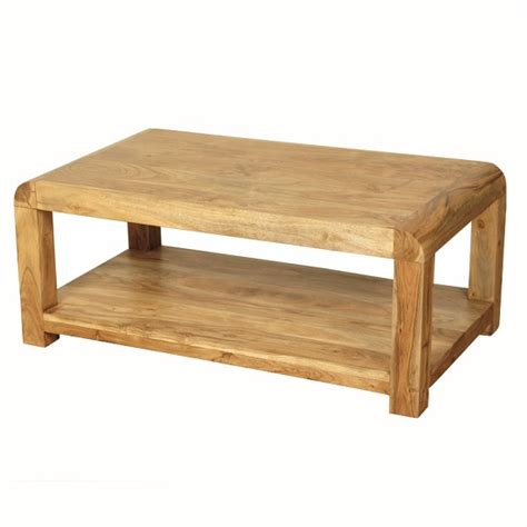 solid acacia wood coffee table nancy coffee table rectangular in solid acacia wood 27843