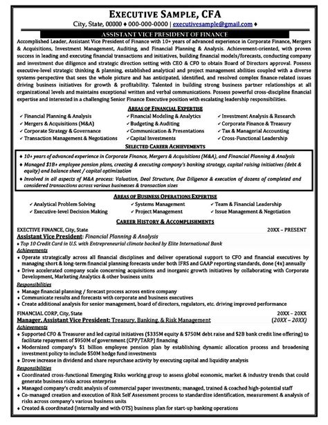 successful executive resumes free sles exles