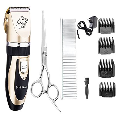 dog and cat house grooming sminiker rechargeable cordless dogs and cats grooming clippers professional pet hair