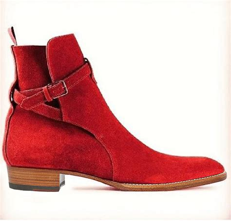 Mens Handmade Boots - handmade jodhpurs ankle boot ankle high suede