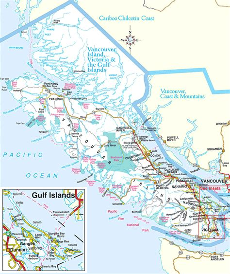map of vancouver island columbia maps