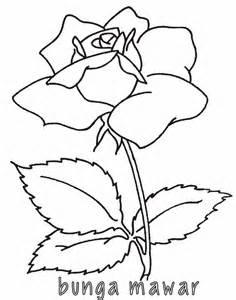 mewarnai bunga mawar 2 alamendah s