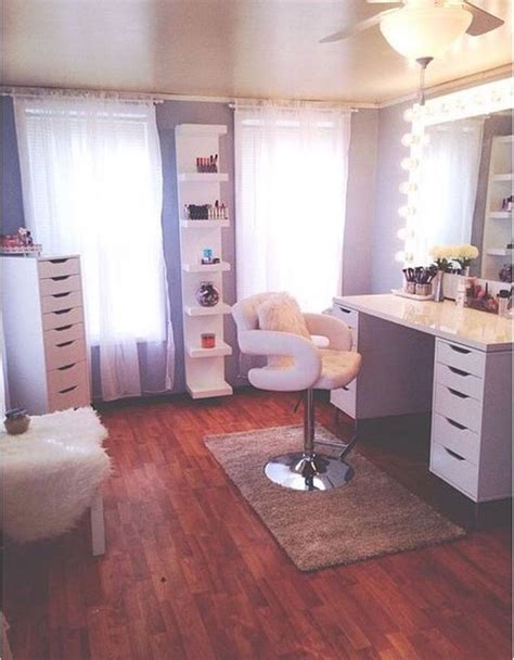vanities room and makeup on