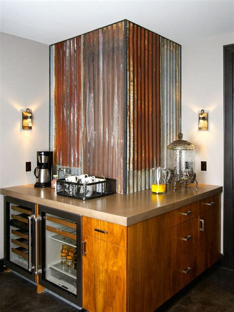corrugated metal backsplash corrugated metal wainscoting images
