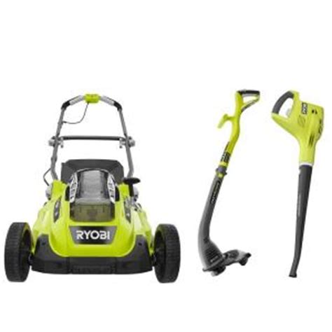 ryobi 16 in one 18 volt cordless lawn mower with string