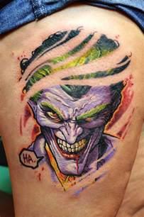 tattoo joker ripped joker tattoo neatorama