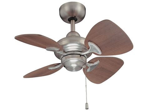wide blade ceiling fans kendal lighting aires satin nickel with royal walnut