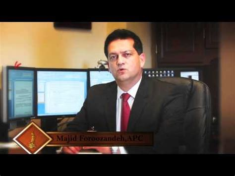 Uci Mba And Jd by Irvine Firm Majid Foroozandeh Me Mba Jd Attorney
