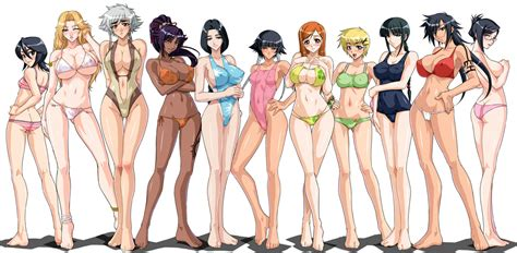bleach all the girls together 2
