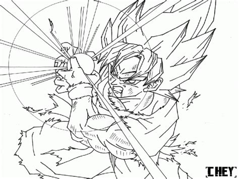 Super Saiyan Goku Coloring Pages   super saiyan goku