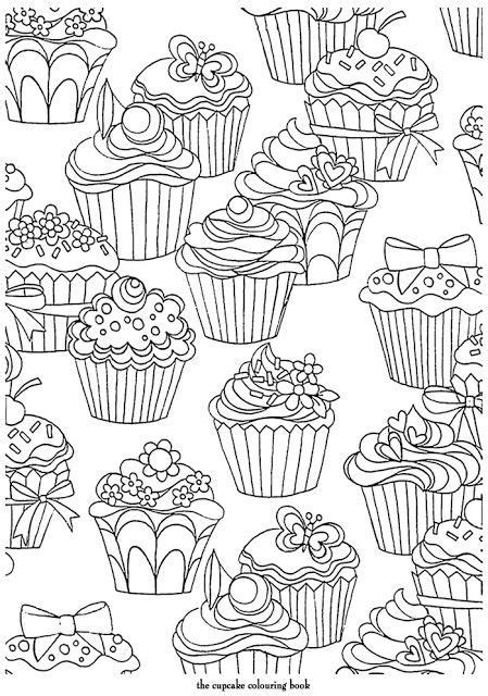 pattern out of words cupcakes pattern free printable adult coloring pages