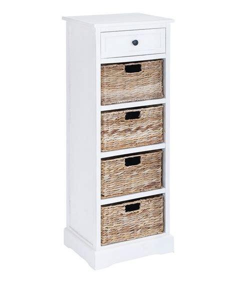 wicker basket storage cabinet