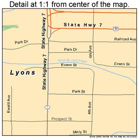 map of colorado lyons lyons colorado map 0847070