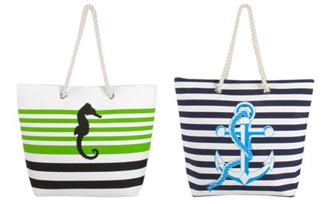 Fabulous Deals Not To Miss Bag Bliss by Swan Comfort Striped Canvas Bag Only 11 99 Shipped