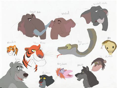 pictures of the jungle book characters the jungle stories characters by theblazinggecko on deviantart