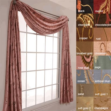 Silk Scarf Valance adella 216 embroidered faux silk scarf window valance by softline for the home
