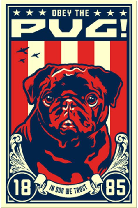 obey the pug black pug patriotism obey the breed coupons